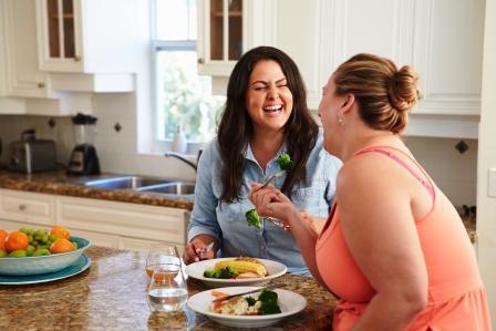 Tučné ženy jedia zdravo