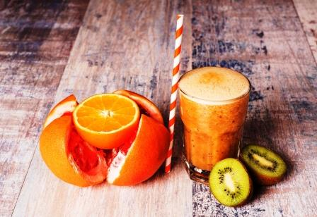 citrusove smoothie s grapfruitom