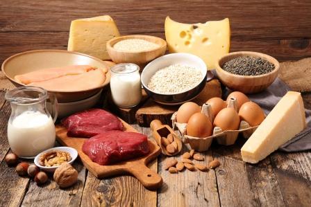 potraviny s vysokym obsahom bielkovin