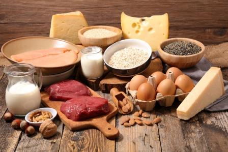 potraviny s vysokým obsahom bielkovín - proteínov